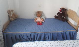 Cama + colchón 90cm