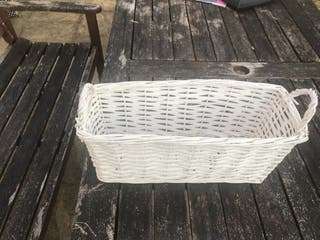 White basket to put your stuff
