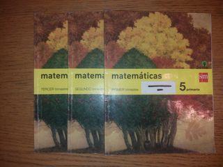 Libros Matemáticas 5° de Primaria