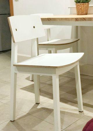 Juego de 2 sillas de comedor