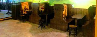 Banco de madera, bancos de cervecería