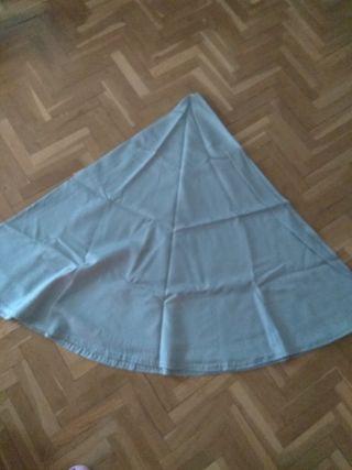 Faldillas mesa camilla redonda de 60cm diámetro