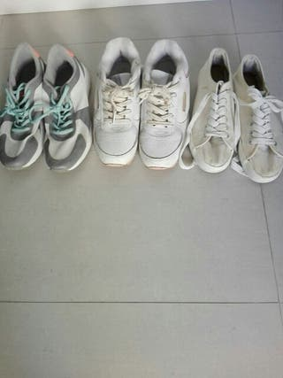 lote 5 zapatillas n 38/39