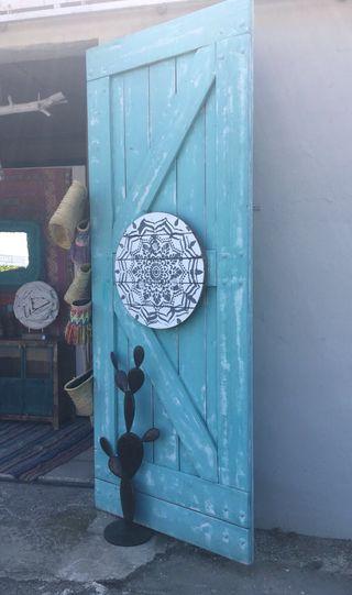Puertas rusticas correderas madera palet