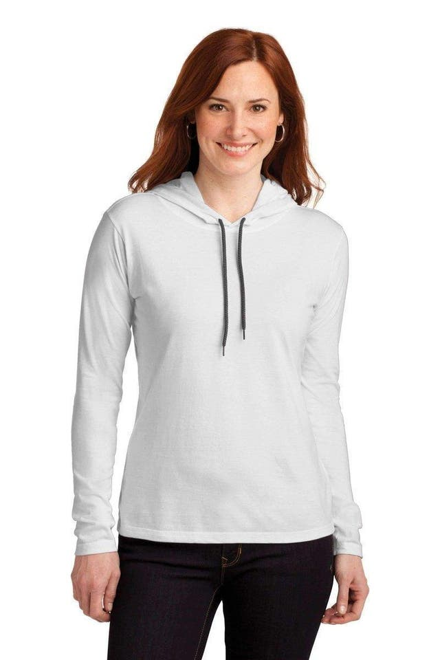 Anvil Cotton Long Sleeve Hooded T-Shirt