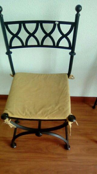 sillas de forja negro dos und
