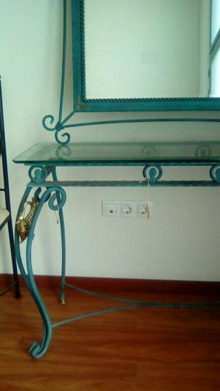 Mueble entrada de forja mazizo de gran calidad