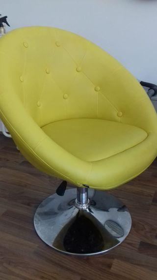 Butaca silla giratoria peluquería salon belleza