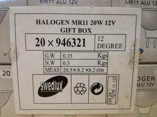 20 Bombilla Halógena MR11 20w 12v