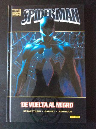 SPIDERMAN DE VUELTA AL NEGRO MARVEL DELUXE NUEVO!