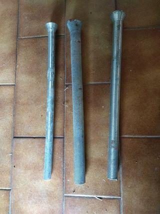 Muelles curvatubos de cobre, de 10,12 y15