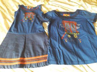 vestido y camiseta conjunto madre e hija