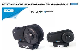 Intercomunicador moto SCS modelo S3 + FM RADIO