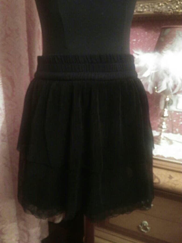 310d53502 Falda mini falda zara talla L negra plisada de segunda mano por 10 ...