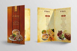Cartas de menu para restaurantes