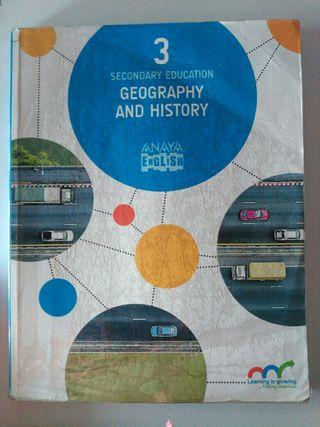 Libro de geografía e historia en inglés para 3°ESO