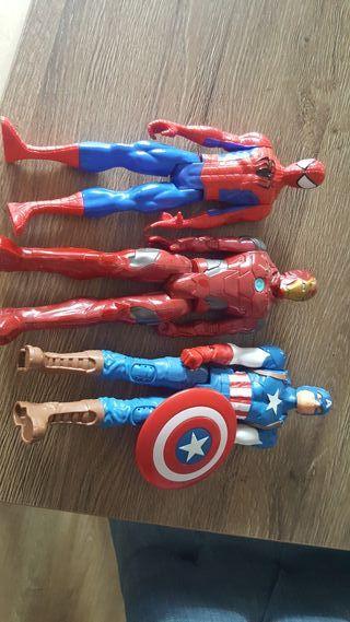 muñecos grandes superheroes