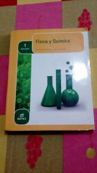 LIBRO FÍSICA Y QUÍMICA, EDITEX. 1° BACHILLERATO.