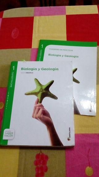 LIBRO BIOLOGÍA Y GEOLOGÍA. SANTILLANA. 1° BACHILL