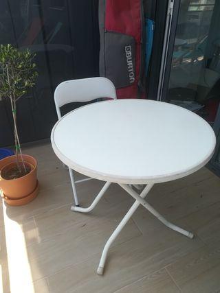 Mesa para terraza plegable de segunda mano en wallapop - Mesa terraza plegable ...