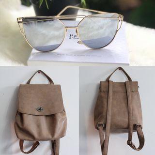 Pack mochila y gafas