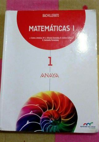 LIBRO MATEMÁTICAS ANAYA. 1° BACHILLERATO.