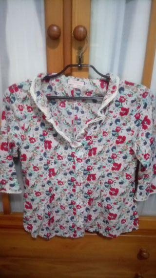 camisa precchio con flores talla 44