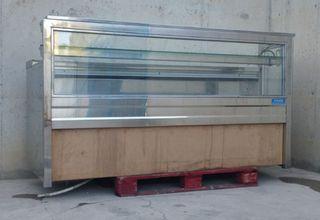 Mostrador vidre i inox 210cm