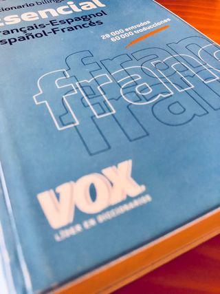 Diccionario bilingüe francés - español Vox