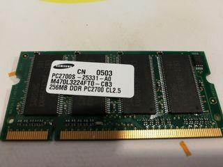 Memoria ram samsung 256 mb ddr pc 2700 cl 2. 5