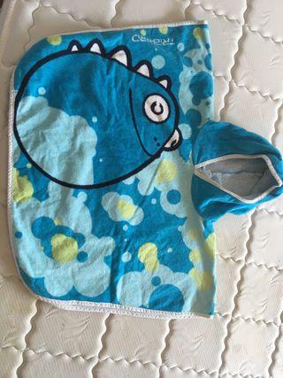 Capa de baño azul talla única