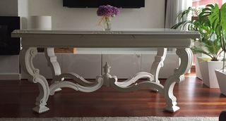 Mesa maciza comedor blanca