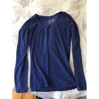 Primark blue long sleeve top,8