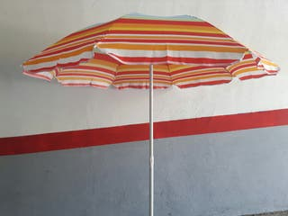 parasol de playa 1.60 cm inclinable multi rayas