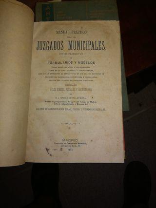 Libro antiguo Manual Practico para los Juzgados...