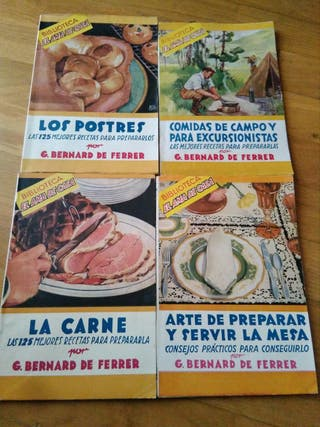 Libros antiguos cocina