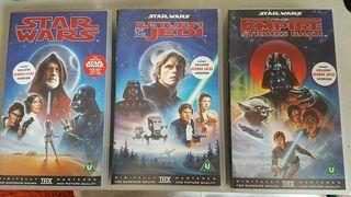 Star Wars trilogy en VHS (inglés)