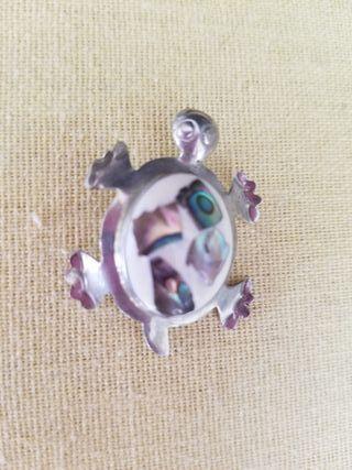 Broche de madre perla y plata mex 925