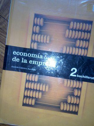 Economia de la empresa de 2° Bachiller