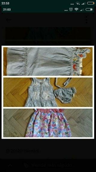 3 vestidos 9-12 meses
