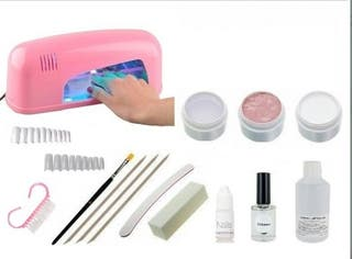 kit aprendizaje uñas de gel con lámpara uv