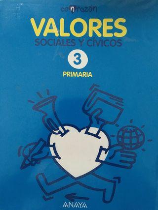 Libro valores tercero Anaya