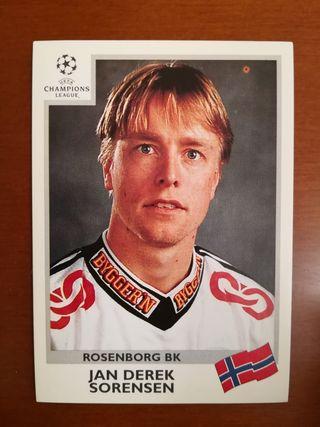 Panini UEFA CL 99/00 cromo #81 Sorensen -Rosenborg