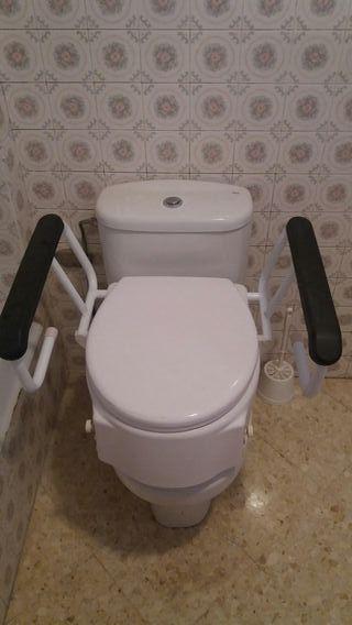 Elevador de wc con tapa regulable