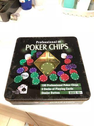 Caja vintage de poker