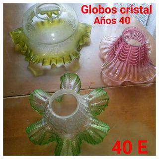 globos cristal lampara