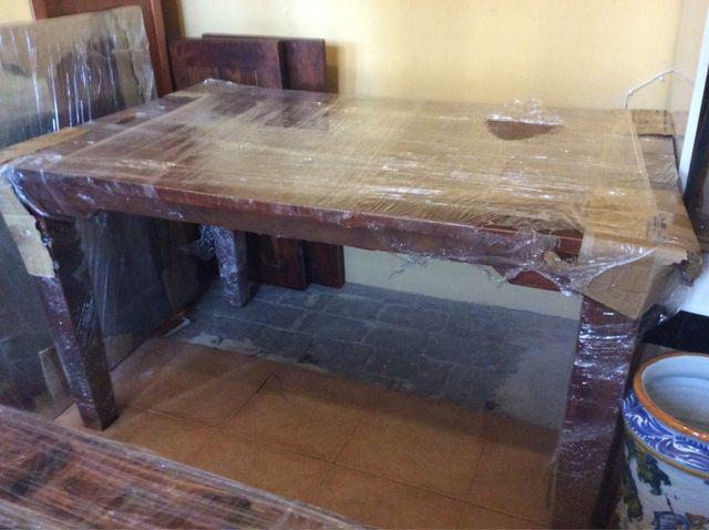 Mesa comedor madera maciza de segunda mano por 140 € en ...