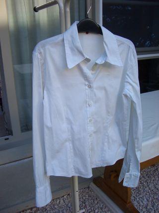 Blusa blanca, 100% algodón (talla M)