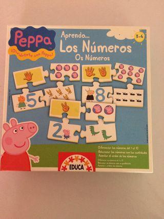 Puzzle numeros pepa pig