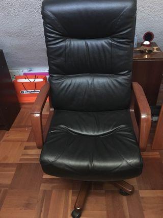 Silla / sillón escritorio oficina piel